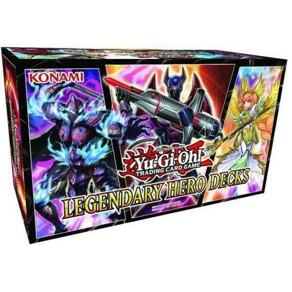 Gw jm yu-gi-oh! box set legendary hero decks display