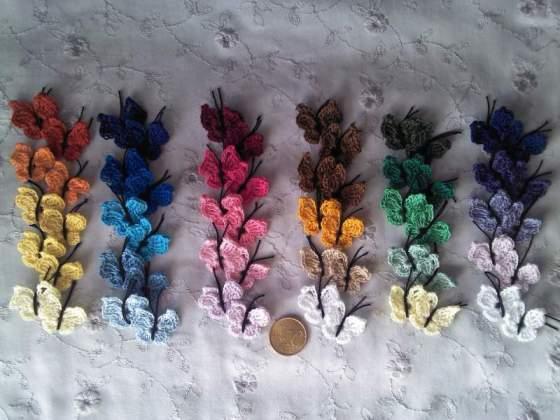 10 Farfalline ad uncinetto