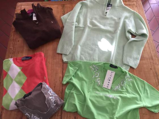 Maglia lana uomo L XL polo by Ralph Lauren 100% lana merinos