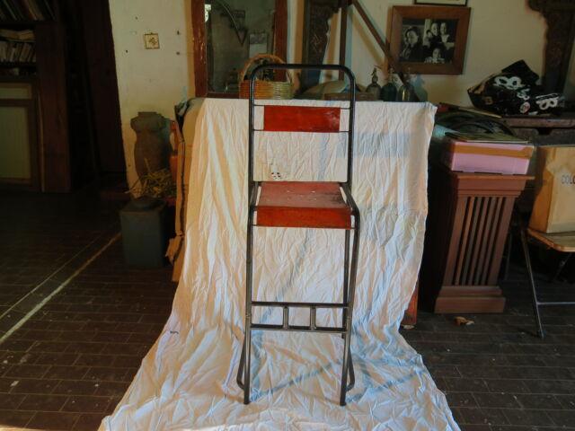 Sedie Sgabello Stile Industriale Rosse