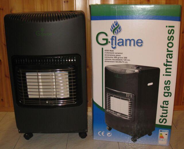 Stufa a gas gpl g-flame infrarossi