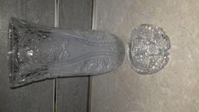 Vaso cristallo Boemia anni 50 e posacenere