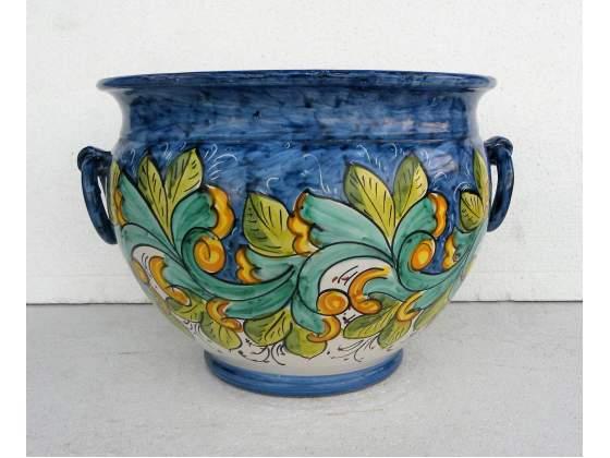 Vaso in ceramica vietrese maiolicato a mano