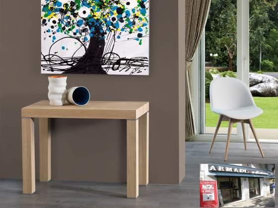 tavolo consolle allungabile in legno