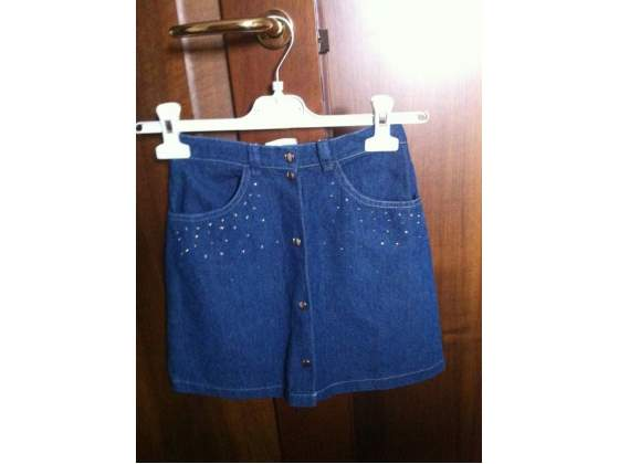 Gonna jeans con strass 7/8 A
