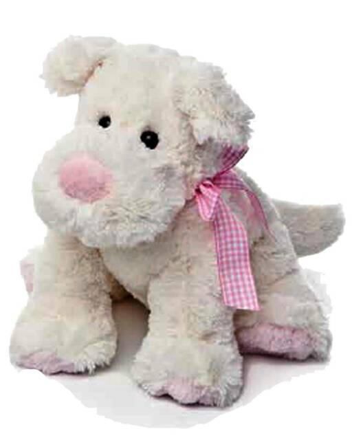 Gw jm peluche baby cane c/fiocco rosa r -