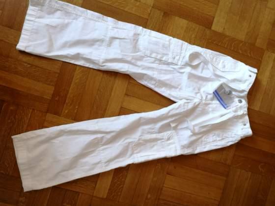 Pantaloni bianchi nuovi per bambina di  anni