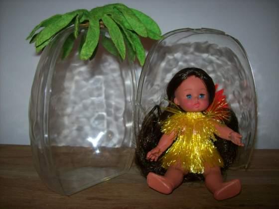 Littles Mattel anni 70, mini Furga nell'ananas, Miss