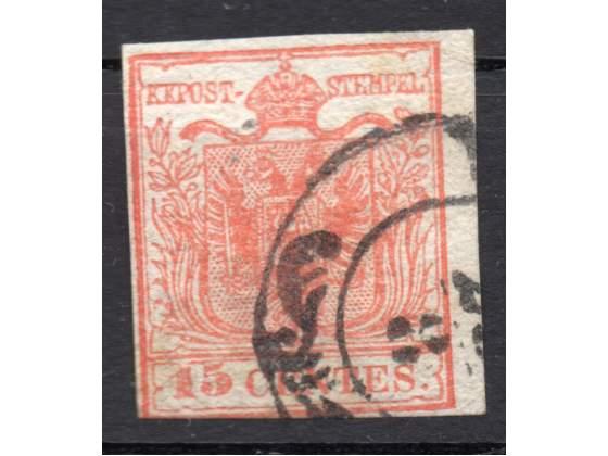 Lombardo Veneto  cent. 15 usato