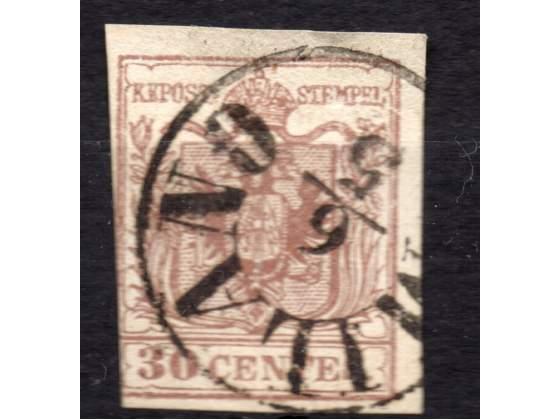 Lombardo Veneto  cent. 30 usato