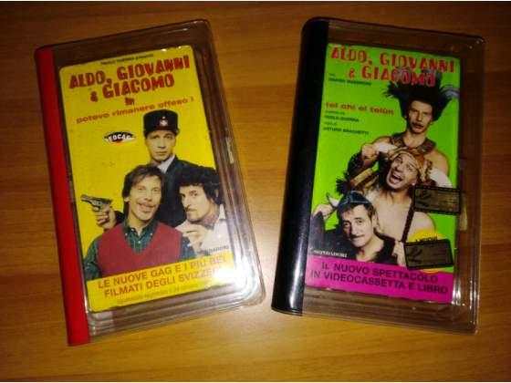 """N'2 VHS """"Aldo,Giovanni e Giacomo con libro"""