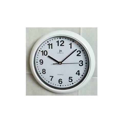 b bianco orologio parete abs