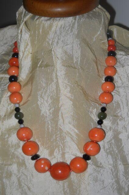 Collana in corallo arancio