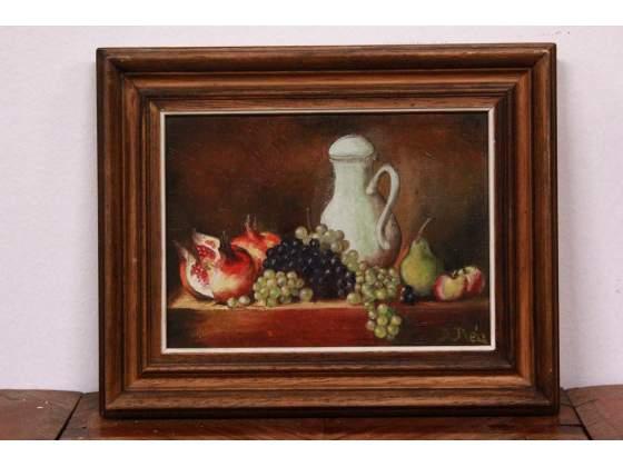 Dipinto a olio su tela del XX secolo firmato D. Réa