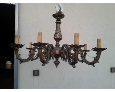Lampadario stile fine '800 ottone