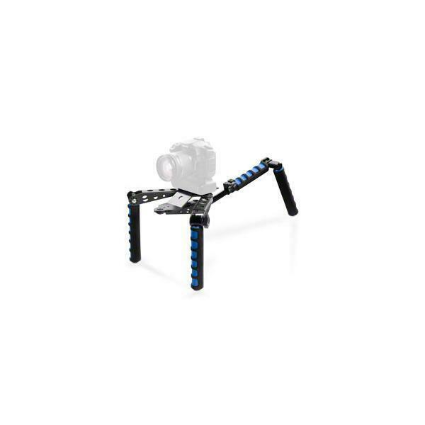 Mini treppiede a spalla 30 x 17 x 9 cm nero e blu