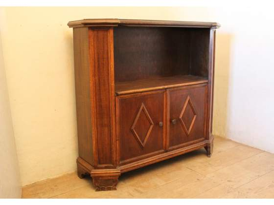 Mobile da ingresso, vintage, in legno scuro, con 2 ante