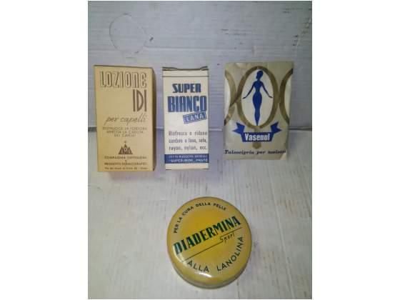 Lotto di 4 prodotti vintage anni 50 confezione originale