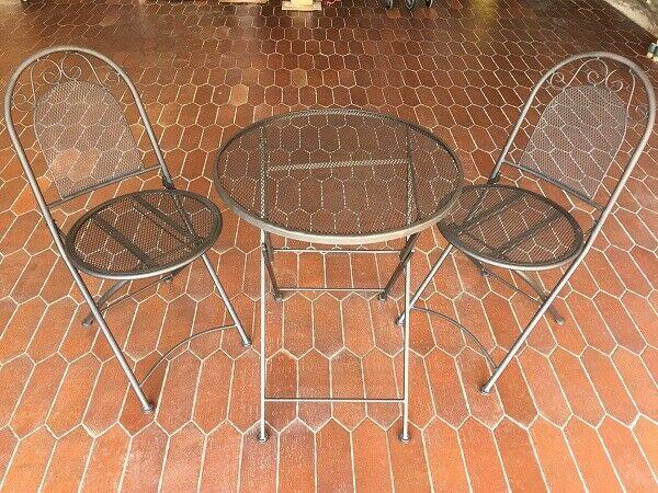 Set da Giardino Pieghevole Tavolo con 2 Sedie