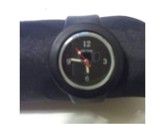 Orologio SS Com Cinturino Silicone Nero.Orologio da Polso