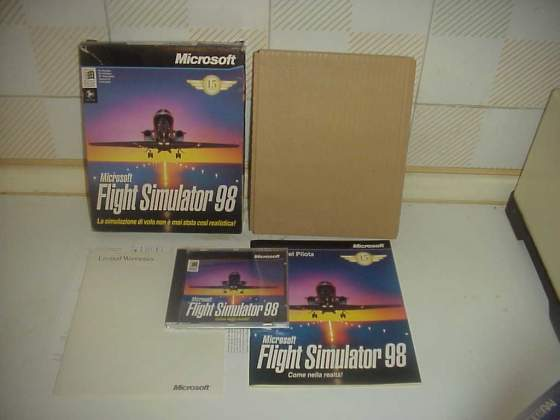Flight simulator 98 videogioco pc computer cd vintage retro
