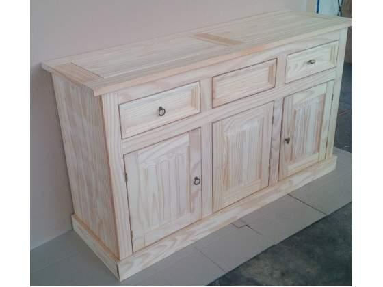 Credenza 3 porte legno massello naturale verniciatura fai da