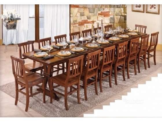 Tavolo in legno super allungabile  posti