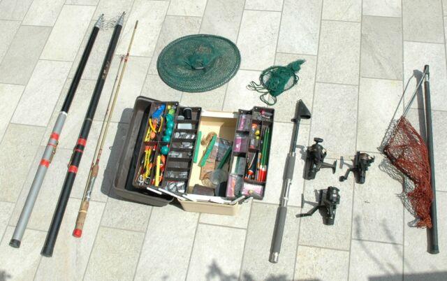 Canne da pesca, mulinelli e accessori vari vintage