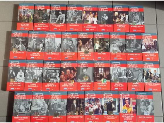 Collezione 35 VHS Il Grande Teatro di Eduardo DeFilippo