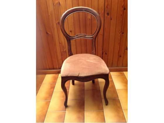 Coppia di sedie stile Luigi Filippo