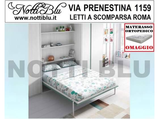 Letti a Scomparsa _ Letto Matrimoniale SE392 Materasso