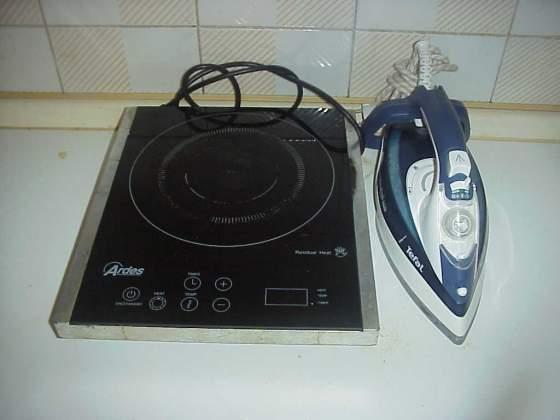 Piastra induzione forno fornello ardes + ferro da stiro