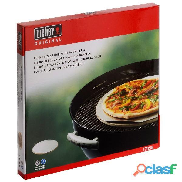 Pietra per pizza rotonda Weber per Barbecue a carbone