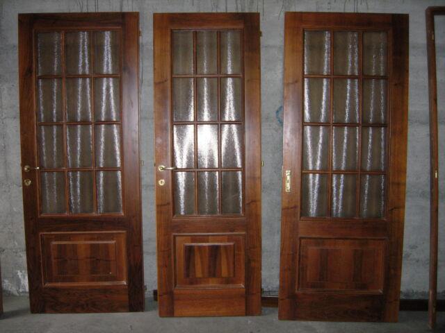 Porte interne in legno e vetro anni '90