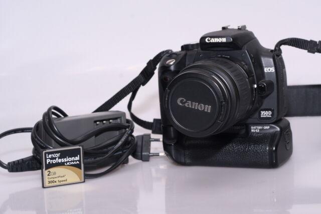 Fotocamera digitale reflex canon eos 350d +  + bg.