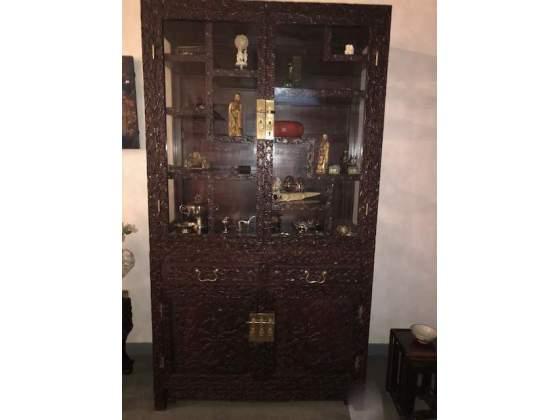 Mobile vetrina in legno di canfora - Cina fine '800