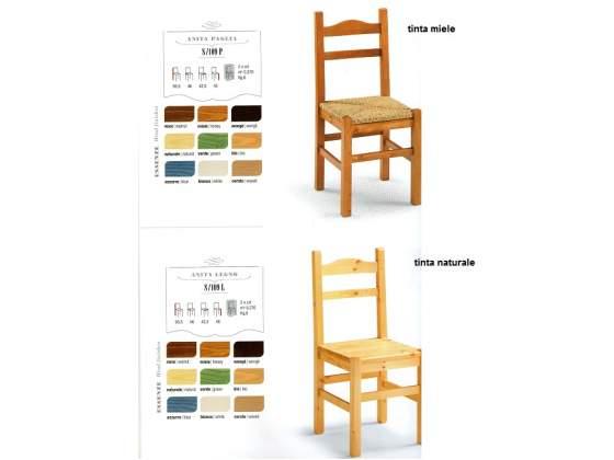 Sedie rustiche per Pub s/109 l in legno di pino di prima