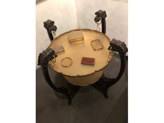 Tavolino in legno e ottone - Cina inizi '900
