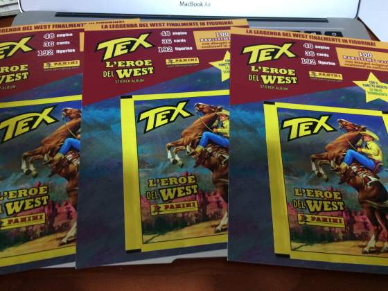 Lotto Tex L'Eroe Del West 3 Bustine Panini (Lucca Comics