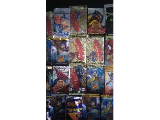 Lotto di cards supereroi marvel anni '90