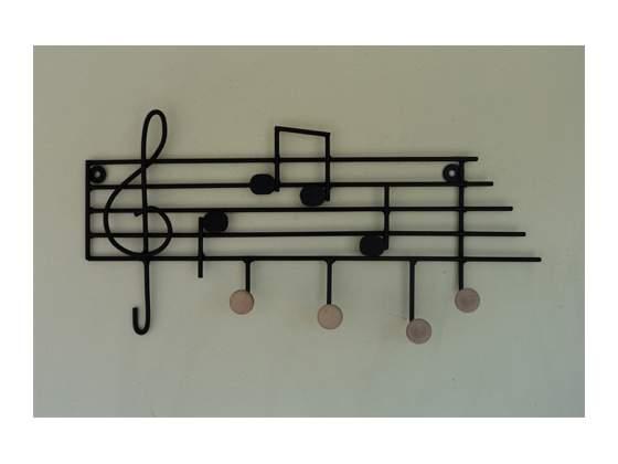Attaccapanni ferro battuto pentagramma musicale