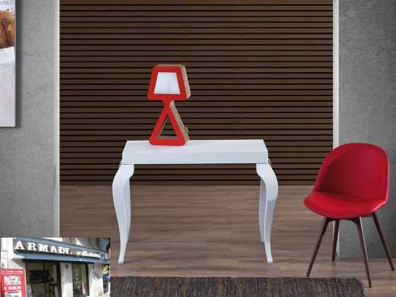 Tavolo consolle allungabile in legno sciabola