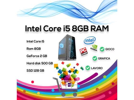 Intel Core i5 8GB Ram HDD 500Gb SSD 128 GB 2GB Scheda Video