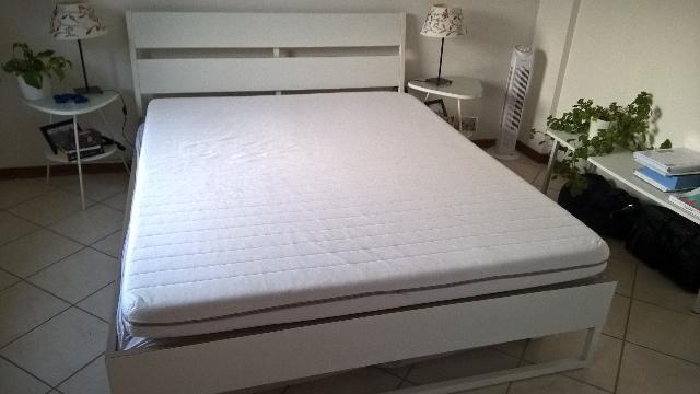 Ikea Letto Matrimoniale Baldacchino.Letto Edland A Baldacchino Ikea Bianco Posot Class
