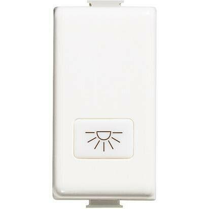 Copritasto Bticino Matix con simbologia lampada bianco