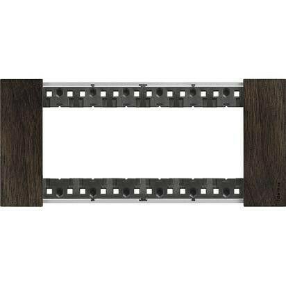 Placca Bticino Living Now 6 Moduli colore legno Noce