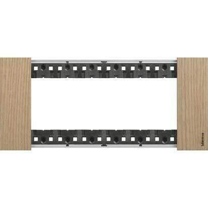 Placca Bticino Living Now 6 Moduli colore legno Rovere