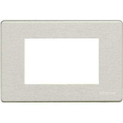Placca OXIDAL Bticino Magic alluminio 3 Posti A/X