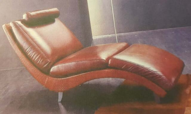 2 poltrone chaise longue vera pelle MADE IN ITALY