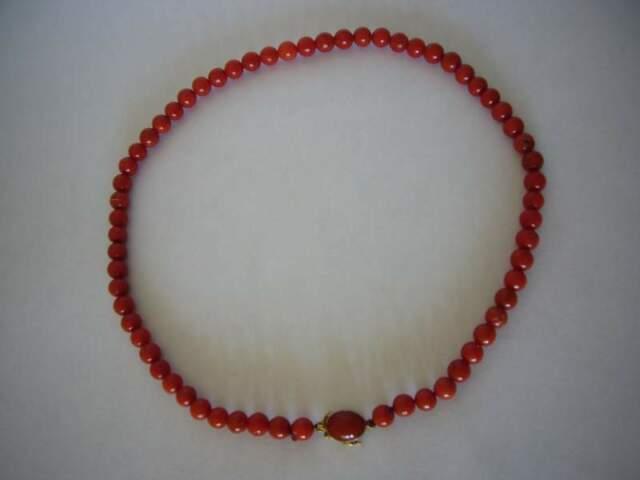 Collana d'epoca in corallo e oro 750